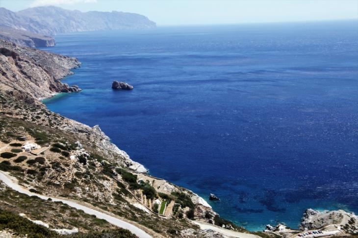 Greece - Amorgos 001 - On the way to the Monastery of Hozoviotissa