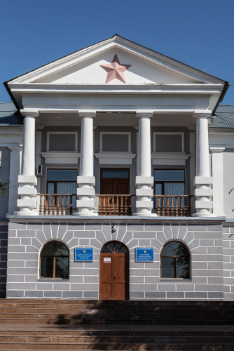 Kazakhstan - Karlag Museum in Dolinka 002 - The entrance of the museum