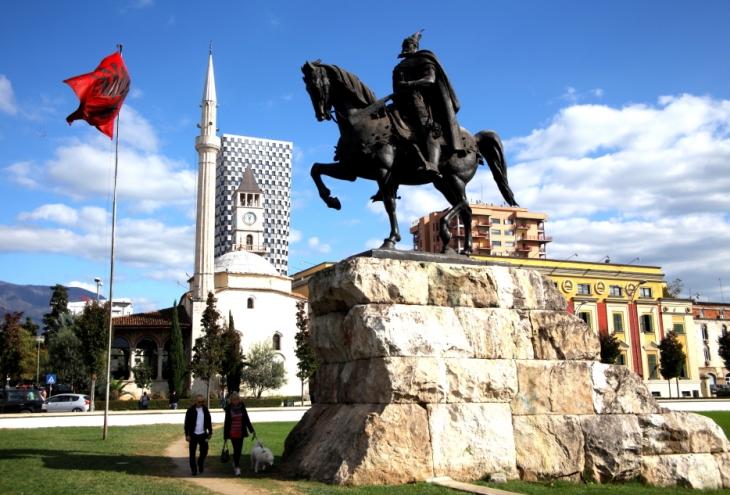Albania - Tirana 020 - Skanderbeg Square