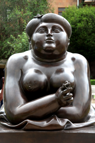 Armenia - Yerevan 027 - Cascade - Fat Lady (Fernando Botero's work)