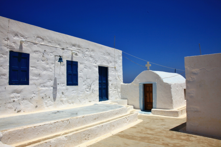 Greece - Astypalaia 059 - On the road to Vathy - Panagia Poulariani