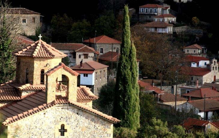 Greece - Parnonas 061 - Polydroso (Tzintzina) village