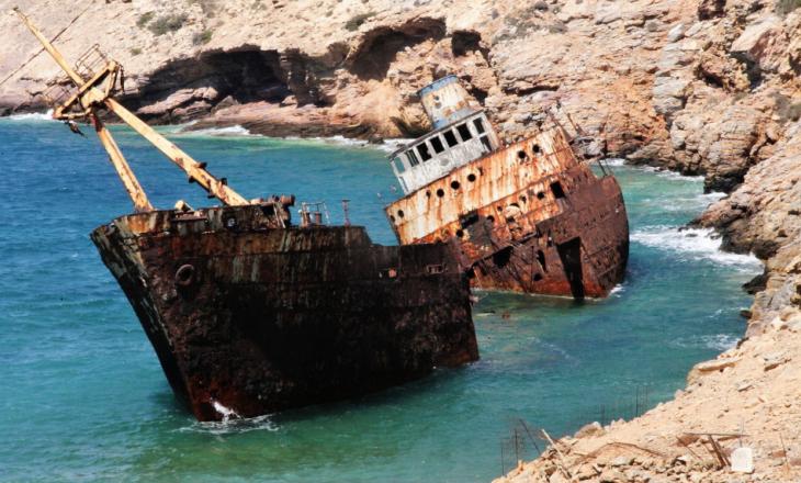 Greece - Amorgos 065 - Kato Meria - The shipwreck