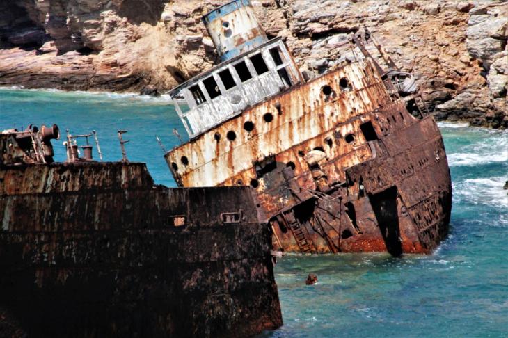 Greece - Amorgos 066 - Kato Meria - The shipwreck