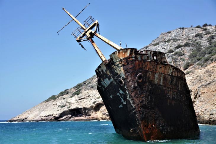 Greece - Amorgos 067 - Kato Meria - The shipwreck
