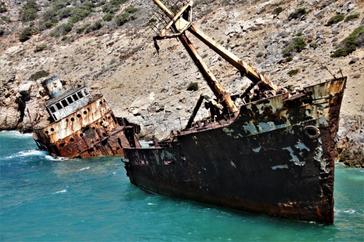 Greece - Amorgos 068 - Kato Meria - The shipwreck