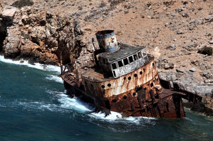 Greece - Amorgos 071 - Kato Meria - The shipwreck