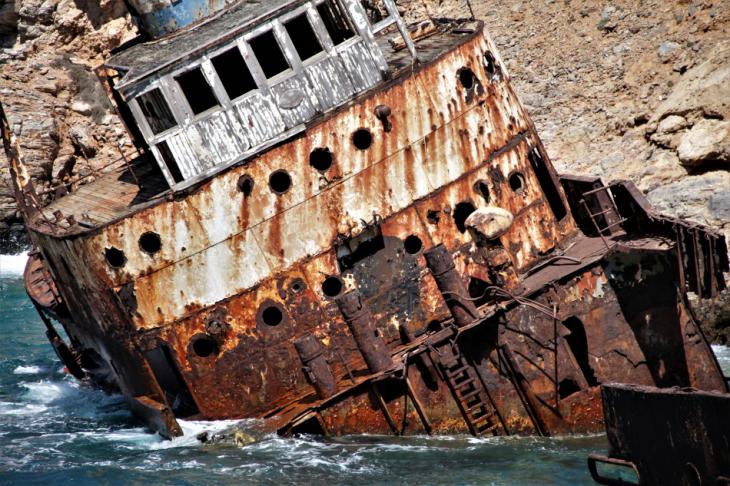 Greece - Amorgos 072 - Kato Meria - The shipwreck