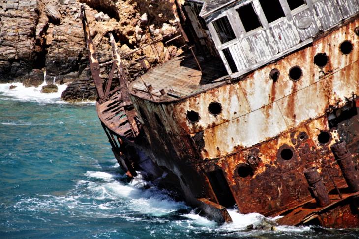 Greece - Amorgos 074 - Kato Meria - The shipwreck