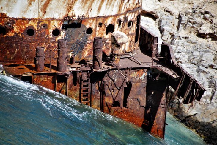 Greece - Amorgos 075 - Kato Meria - The shipwreck