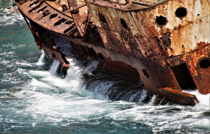 Greece - Amorgos 076 - Kato Meria - The shipwreck