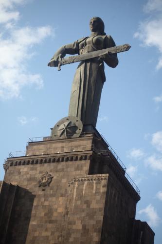 Armenia - Yerevan 091 - Victory Park - Mother Armenia statue