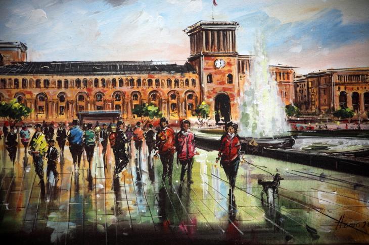 Armenia - Yerevan 099 - Painting exhibition
