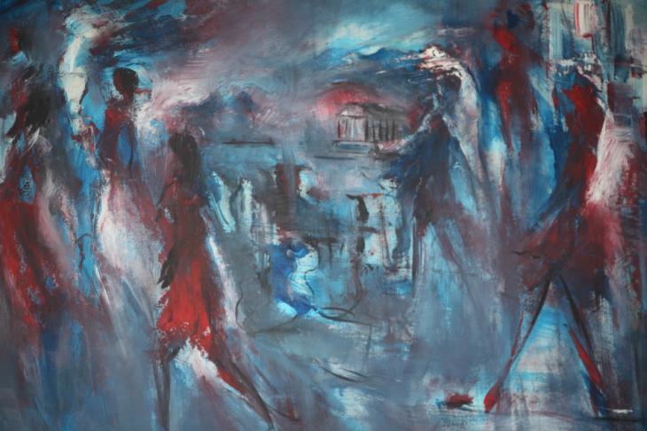 Armenia - Yerevan 101 - Painting exhibition