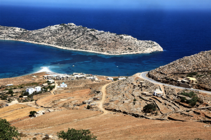 Greece - Amorgos 120 - On the road - Agios Pavlos and Nikouria from above