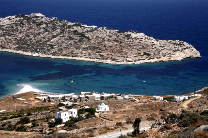 Greece - Amorgos 121 - On the road - Agios Pavlos and Nikouria from above