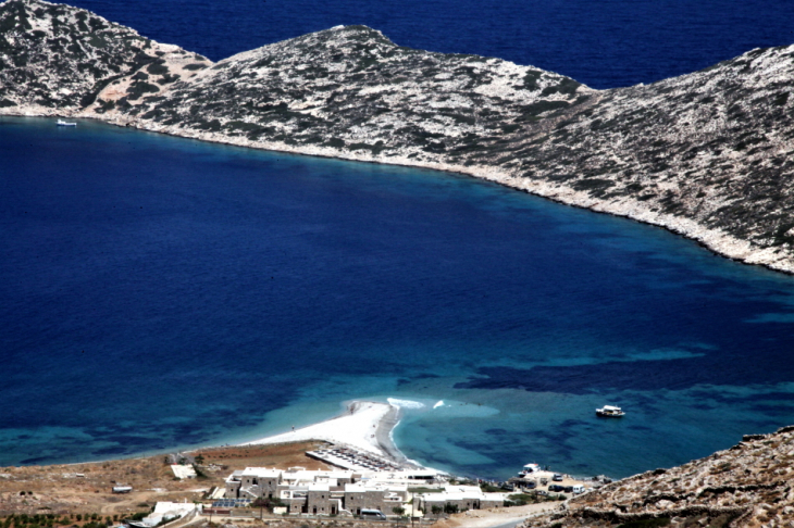 Greece - Amorgos 122 - On the road - Agios Pavlos and Nikouria from above