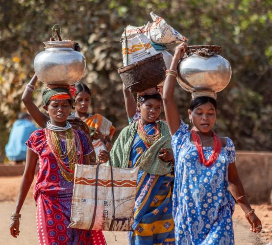 India - Odisha 196 - Ankadeli market - Bonda tribe