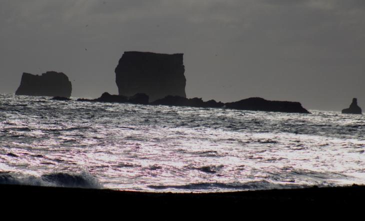 Iceland - South coast 022 - view of Dyrholaey from Reynisfjara