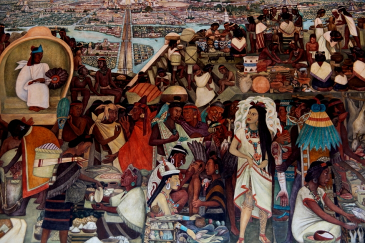 Mexico - Ciudad de Mexico 021 - Murales de Diego Rivera