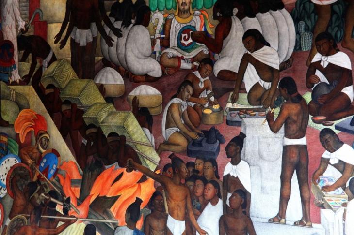 Mexico - Ciudad de Mexico 028 - Murales de Diego Rivera