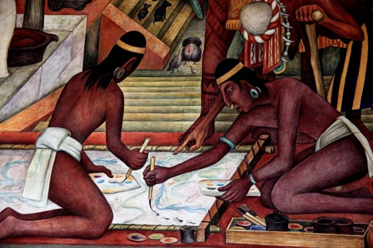 Mexico - Ciudad de Mexico 018 - Murales de Diego Rivera