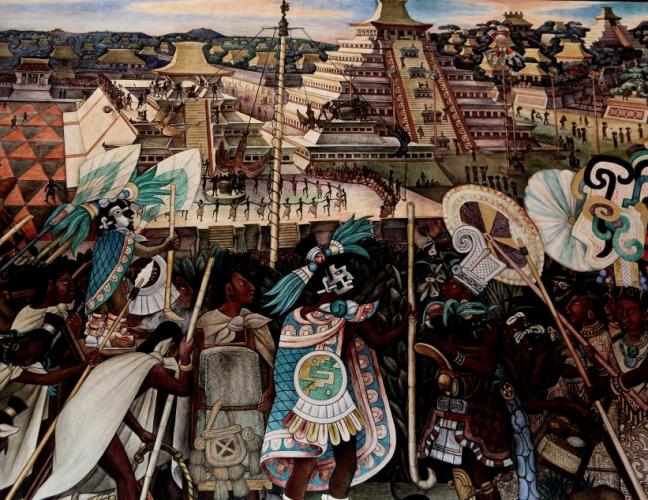 Mexico - Ciudad de Mexico 019 - Murales de Diego Rivera