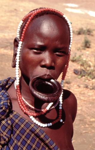 Ethiopia - South 072 - Mursi tribe